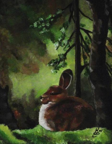 Wall Art - Painting - Bunny by Kim Selig