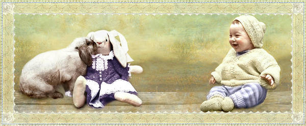 Photograph - Bunny Kisses Doll by Adele Aron Greenspun