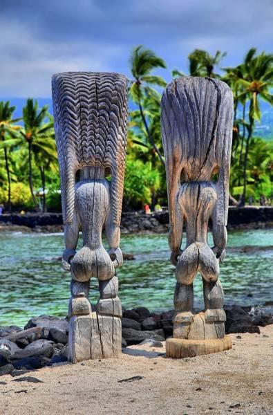 Hawaiiana Photograph - Buns Of Wood by DJ Florek