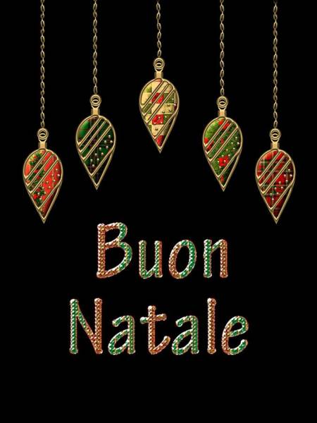 Wall Art - Digital Art - Buon Natale Italian Merry Christmas by Movie Poster Prints