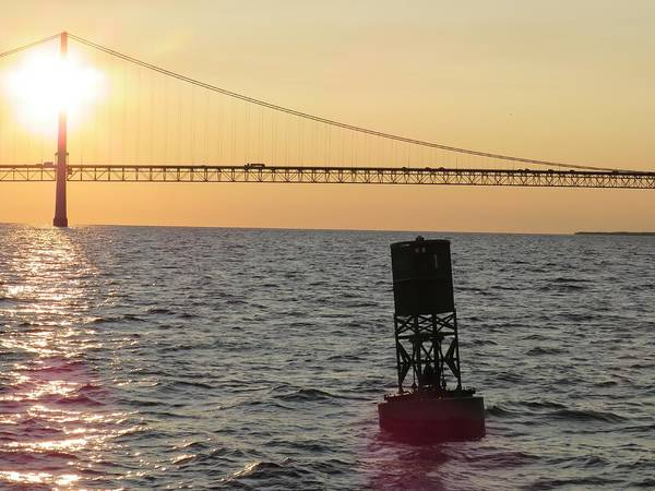 Photograph - Buoy And Bridge by Keith Stokes