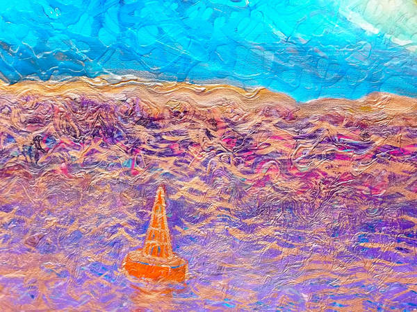 Painting - Buoy Detail Of Sunset Unfurls by Anne Cameron Cutri