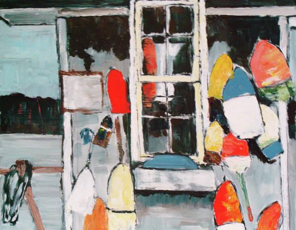Lax Painting - Buoys For Brenda by Stephanie Arsenault