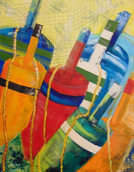 Wall Art - Painting - Buoys by Rich Mason