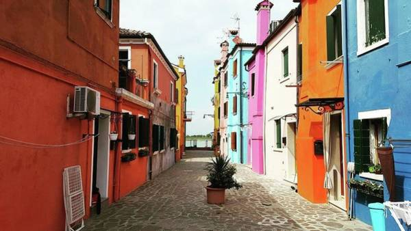 Wall Art - Photograph - Burano Alley by Happy Home Artistry