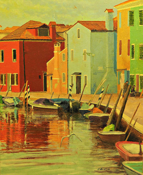 Painting - Burano, Italy - Study by E Colin Williams ARCA