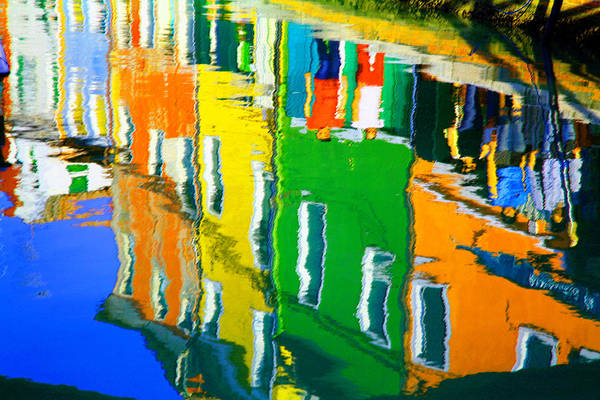 Pastel - Burano Reflections by Donna Corless