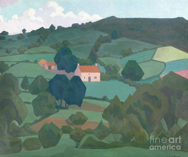1918 Painting - Burford Farm, Devon, 1918 by Robert Polhill Bevan