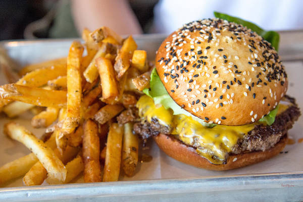 Photograph - Burger And Fries On A Sesame Seed Bun by Ericamaxine Price