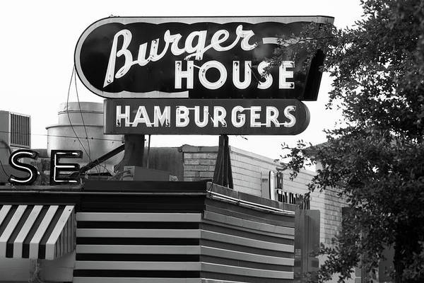 Photograph - Burger House B W 062218 by Rospotte Photography