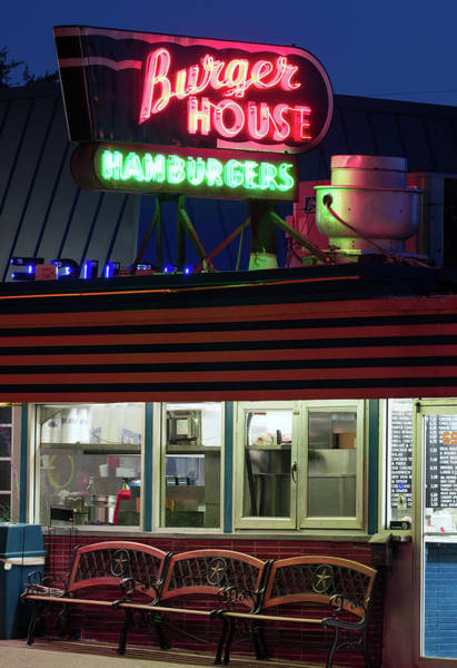 Photograph - Burger House Hillcrest by Rospotte Photography