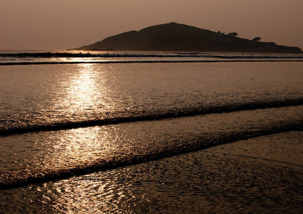 Photograph - Burgh Island Sunset by Helen Northcott