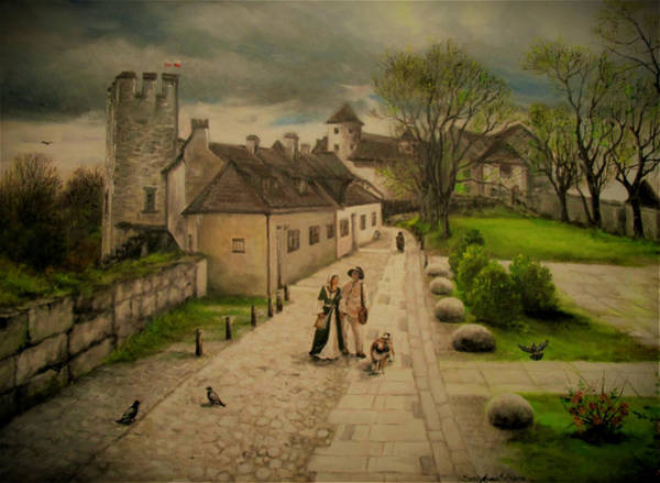 Painting - Burghausen Fortress by Sorin Apostolescu