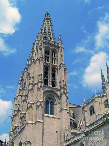 Wall Art - Photograph - Burgos Cathedral Spire by Nieves Nitta