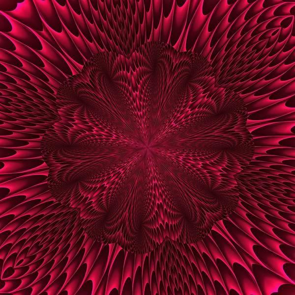 Digital Art - Burgundy Hexablossom by Doug Morgan