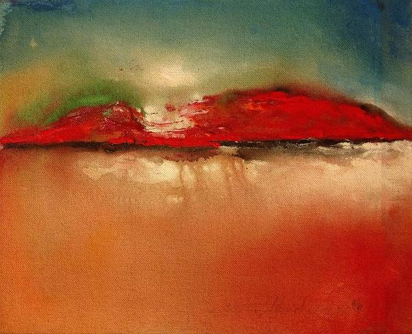 Painting - Burgundy Mountain by Edward Longo