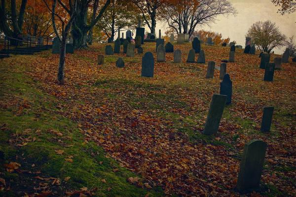 Seacoast Photograph - Burial Hill by Joan Carroll