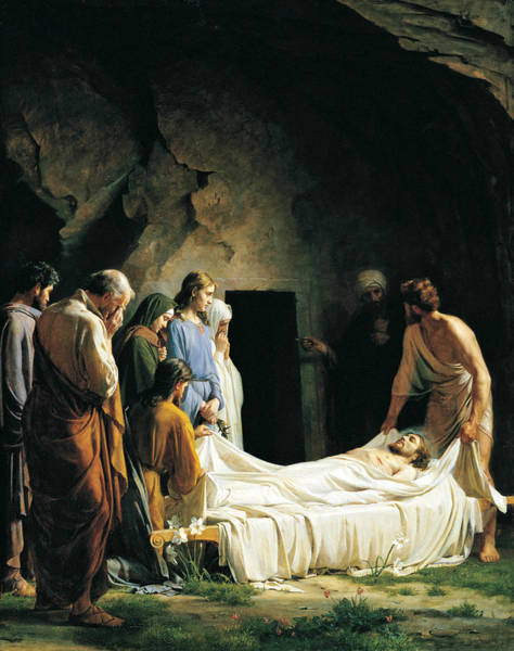 Wall Art - Painting - Burial Of Jesus Christ by Carl Heinrich Bloch