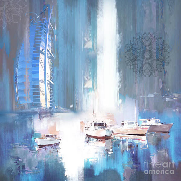 Dubai Marina Painting - Burj Al Arab by Gull G