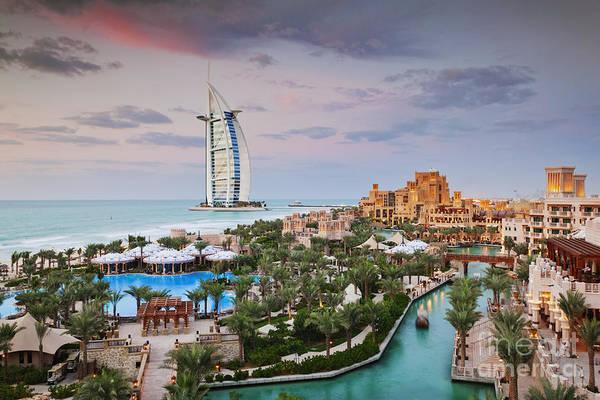 Wall Art - Photograph - Burj Al Arab Hotel And Madinat Jumeirah Resort by Jeremy Woodhouse