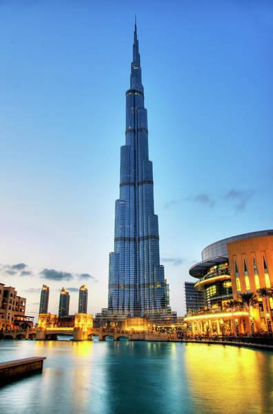Burj Khalifa Sunset Art Print