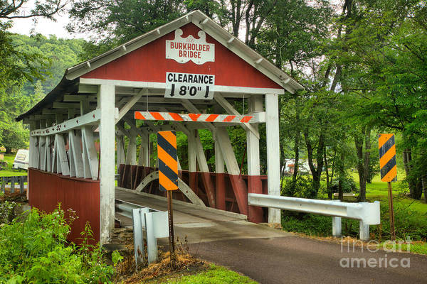 Wall Art - Photograph - Burkholder Covered Bridge by Adam Jewell