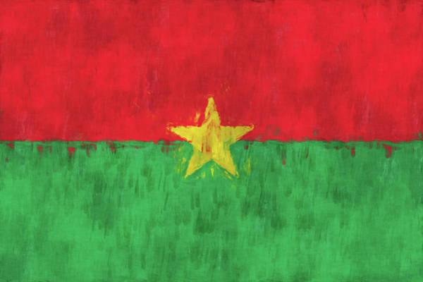 Wall Art - Digital Art - Burkina Faso Flag by World Art Prints And Designs
