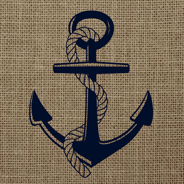 House Digital Art - Burlap Anchor by Brandi Fitzgerald