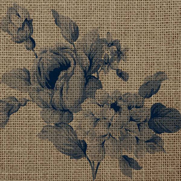 Wall Art - Digital Art - Burlap Flowers by Brandi Fitzgerald