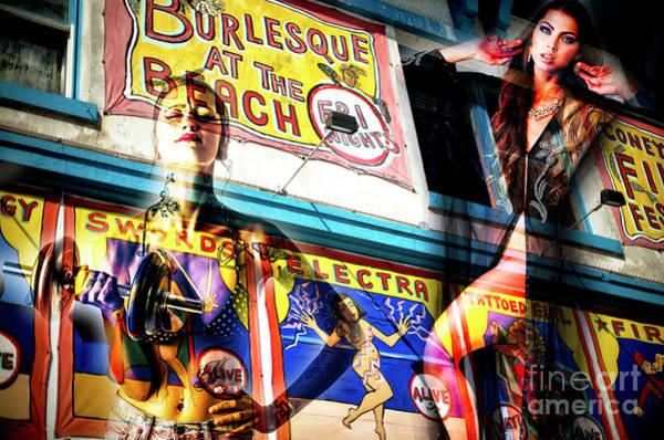 Photograph - Burlesque At The Beach by John Rizzuto