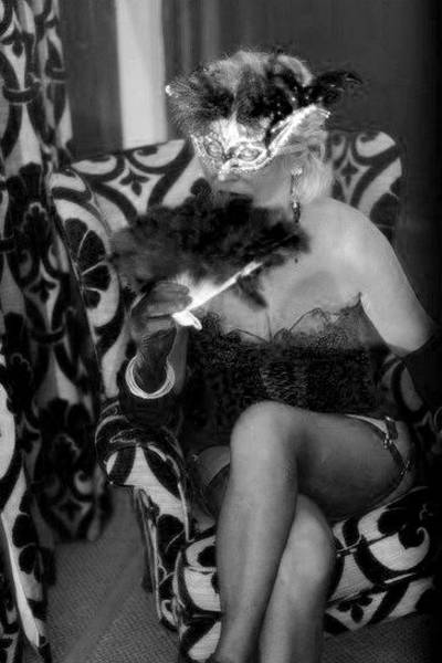 Burlesque Dancer Photograph - Burlesque Dancer by Lynsey Au lait