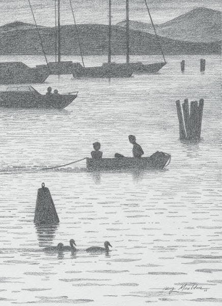 Drawing - Burlington Waterfront by Harry Moulton
