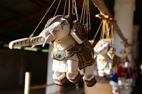 Wall Art - Photograph - Burmese Elephant Puppets by Jessica Rose