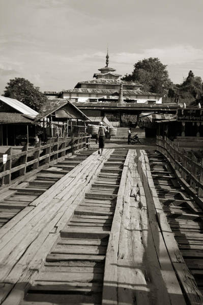 Burmese Wooden Bridge Art Print by Jessica Rose