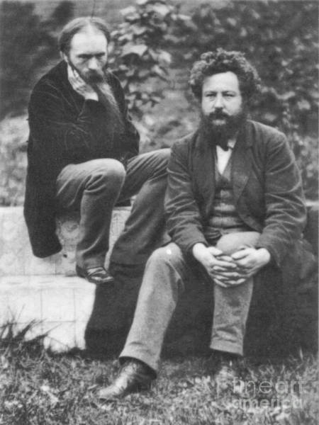 Frederick Morris Painting - Burne-jones With William Morris by MotionAge Designs