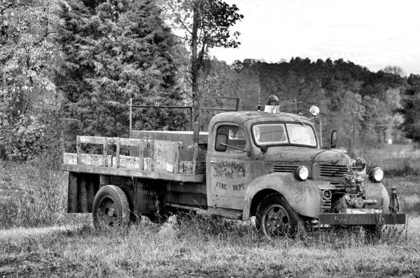 Firetruck Photograph - Burned Out Firetruck by Jan Amiss Photography