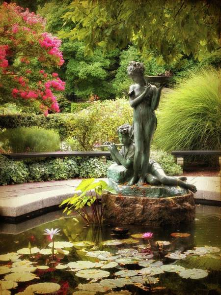 Photograph - Burnett Fountain Garden by Jessica Jenney