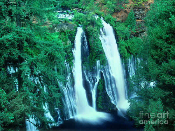 Photograph - Burney Falls From Overlook Mcarthur Burney State Park California by Dave Welling