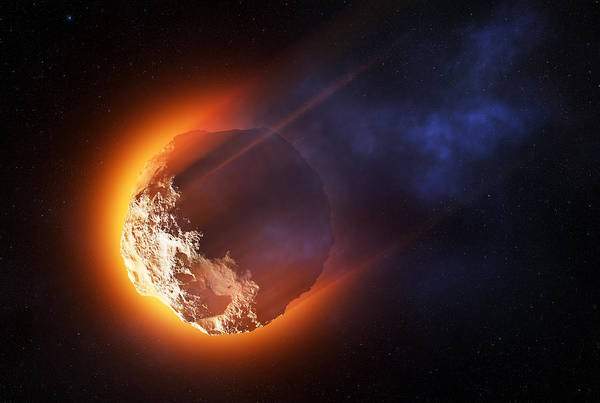 Smoke Fantasy Wall Art - Photograph - Burning Asteroid Entering The Atmoshere by Johan Swanepoel