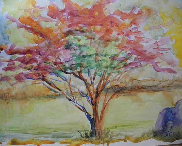 Wall Art - Painting - Burning Bush by Chrissey Dittus