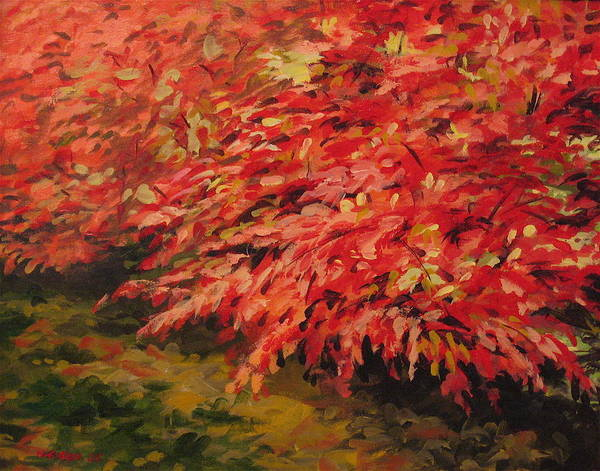 Painting - Burning Bush by Outre Art  Natalie Eisen