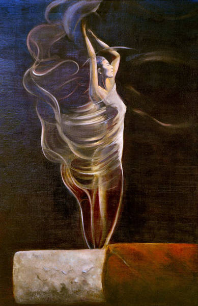 Cigar Painting - Burning Desire by Barry Shereshevsky