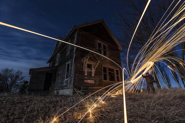 Steel Wool Photograph - Burning Down The House  by Aaron J Groen