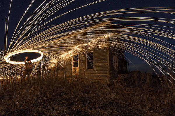 Steel Wool Photograph - Burning Down The Next House by Aaron J Groen