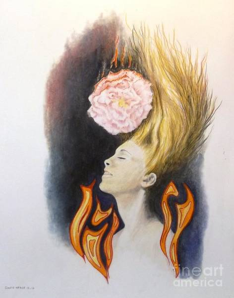Drawing - Burning Dreams by David Neace