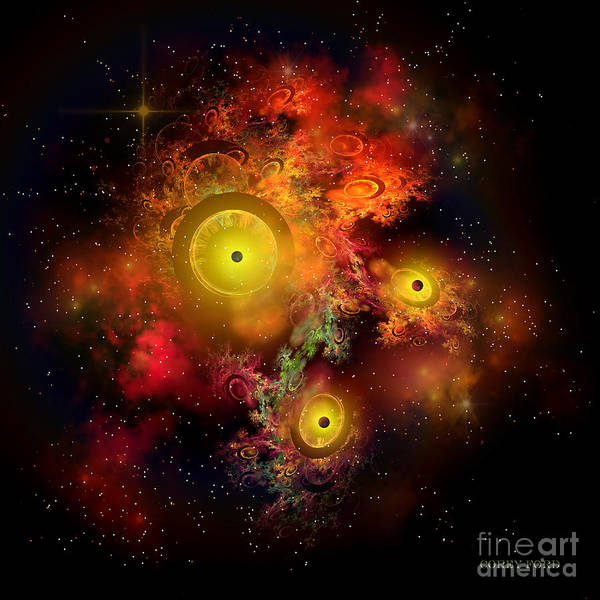 Endless Painting - Burning Embers Nebula by Corey Ford