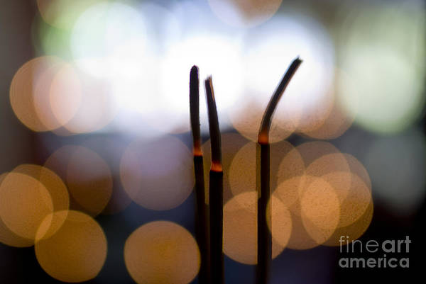 Adorn Photograph - Burning Incense by Ray Laskowitz - Printscapes