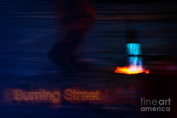 Photograph - Burning Street by Hannes Cmarits