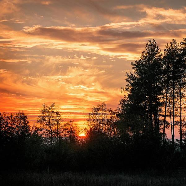 Photograph - Burning Sunset. Horytsya, 2014. by Andriy Maykovskyi
