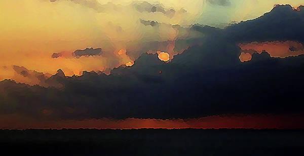 Digital Art - Burnished Sky by Robin Webster